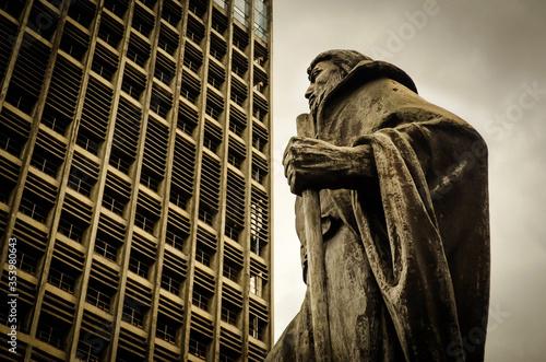 Canvastavla Estátua de João Ramalho no Paço Municipal de Santo André, Brasil