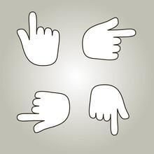 Hand Thumb Vector Icon. Pointi...