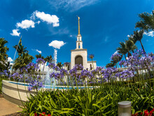 Sao Paulo, SP, Brazil, November 14, 2018. Temple Of The Church Of Jesus Christ Of Latter-day Saints, Which Has The Missionaries Known As Mormons, In The Caxingui Neighborhood, West Of Sao Paulo, SP