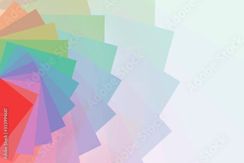 Fotografie, Tablou Random Paper Rainbow Color Pattern And Texture Background