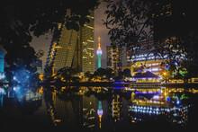 Colombo Lotus Tower Sri Lanka Nightscape