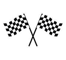 Flag Cross Racing Flag With Ch...