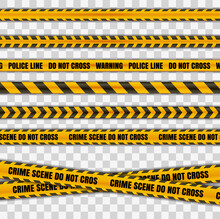 Police Tape Warning Danger Set...