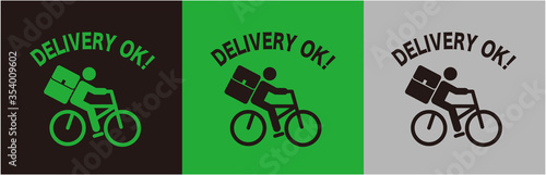 Foto illustration of delivery icon logo