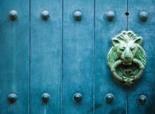 Old Metal Lion Door Knocker