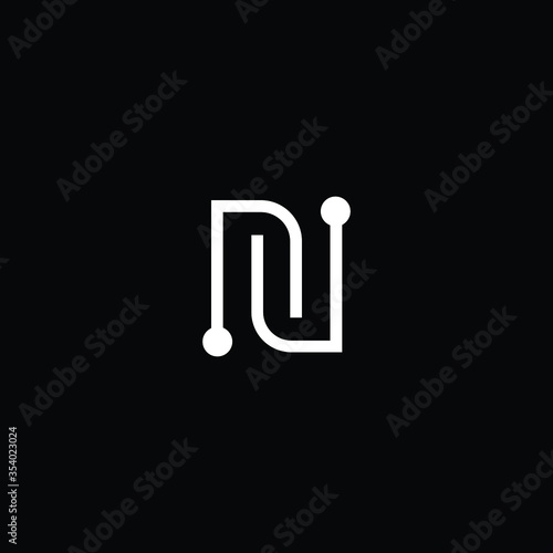 Professional Innovative Technology Initial N logo and NN logo Fotobehang
