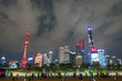 skyline of shanghai city