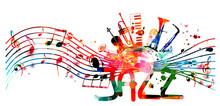 Colorful Jazz Music Promotiona...