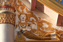 Golden Buddha Image As Fresco ...