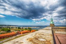 Helsingor. Denmark. 26 July. 2019. One Of The Towers Of Kronborg Castle. Denmark Sights Architecture