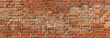 Leinwandbild Motiv texture of old red brick wall background