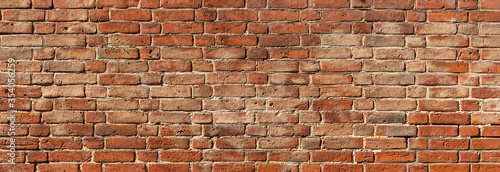 Fototapeta texture of old red brick wall background