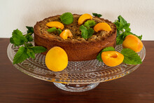 Cheesecake With Apricot And Mint