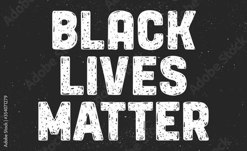 фотографія Black Lives Matter. Text message for protest action