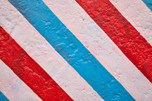 White Red And Blue Stripes Pai...