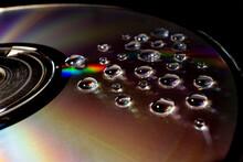 Multi-colored Drops Of Water O...