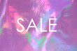 canvas print picture - Sale background. Colorful  fantasy abstract holographic background.