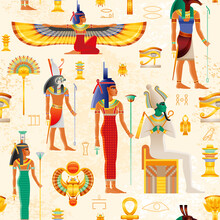 Egyptian Vector Seamless Papyr...