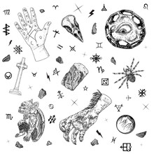 Occult Alchemy Symbols And Alp...