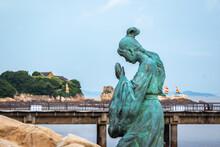 Oxidized Copper Statue Of Budd...