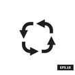 Simple Recycle icon, Simple Recycle sign/symbol vector