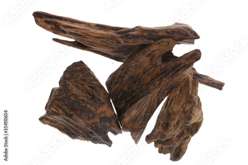 Leinwand Poster Selective Focus, Sticks Of Agar Wood Or Agarwood Background The Incense Chips Us