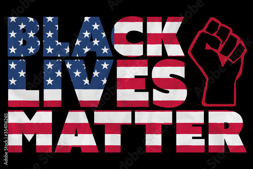 A Black Lives Matter (#BLM) graphic illustration for use as poster to raise awar Canvas-taulu