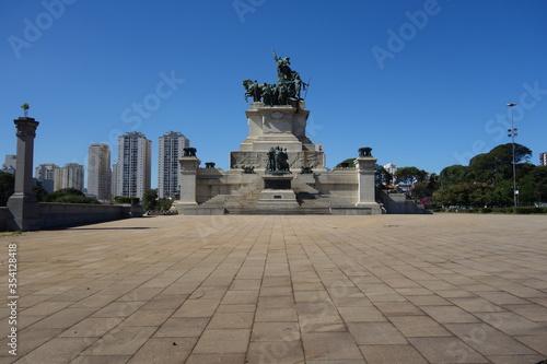 Sao Paulo/Brazil: Independence park monument, Ipiranga district Fotobehang
