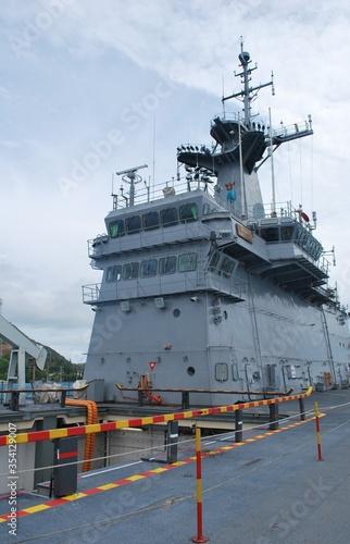 Chakri Naruebet battleship, control room in the bow section. Wallpaper Mural