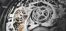 Gears And Cogs In Clockwork Wa...