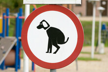 Dogs Not Allowed Sign At The Playground