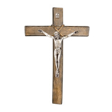 Old Wooden Christian Crucifix ...