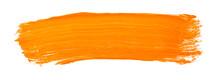 Orange Yellow Brush Stroke Iso...