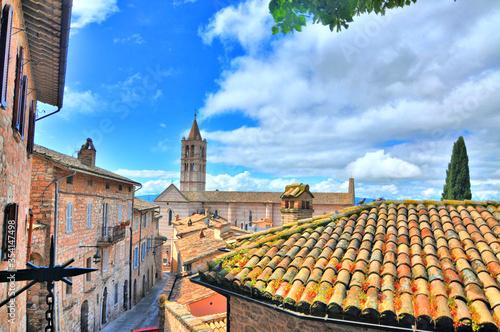 Widok miasta Asyż, Włochy