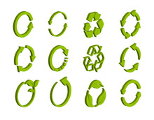 Isometric Recycling Icon Colle...