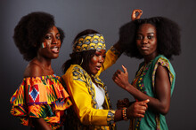 Three Young Beautiful African ...