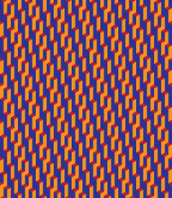 Isometric Seamless Vector Pattern In Escher Style. Bright Geometric Ornament Of Cubic Building Blocks With Orange, Red And Blue Surfaces. Illusion Of Skyscrapers. Modern 3d Print Of Urban Labyrinth.