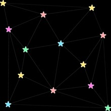 Geometric Star Link Abstract B...