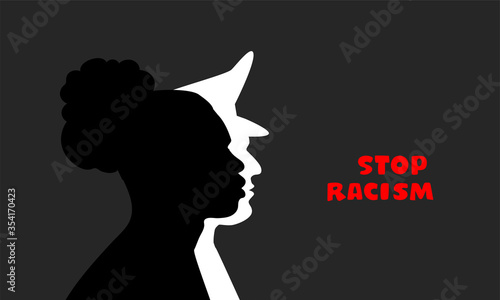 Photo Stop racism poster