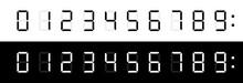 Digital Clock Numbers. Vector ...