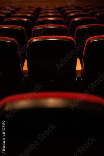 Empty seats in a theatre due to coronavirus Fototapet