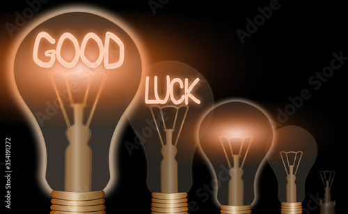 Photo Word writing text Good Luck