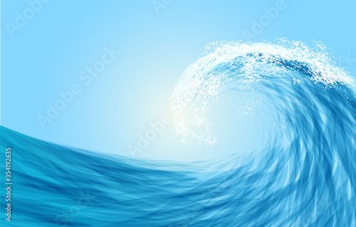 Abstract blue sea wave