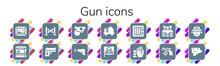 Modern Simple Set Of Gun Vecto...
