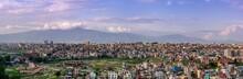 Kathmandu City Panorama At Sun...