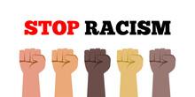 Stop Racism Fist Hands With Va...