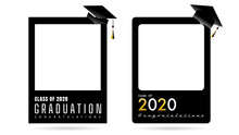 Graduation Frame Class Of 2020 Template ,Isolated On White Background ,Vector Illustration EPS 10