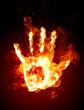 abstract burning hand