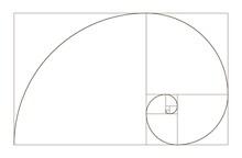 Golden Ratio Spiral. Mathemati...
