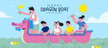 Dragon Boat Racing Team Banner